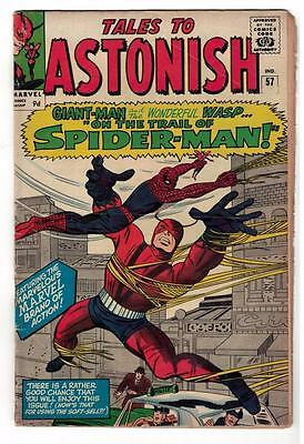 Marvel TALES TO ASTONISH 57  Giant man Spiderman VG+