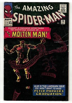 Marvel comics Amazing Spiderman 28 silver age 1st appearance Moltan man