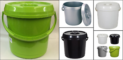 14L Baby Nappy Compost-able Bucket With Lid & Handle Pet Food Storage Container