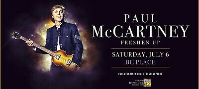 Paul McCartney Freshen Up tour - TWO Tickets in hand, FLR-A2 Row 14. Up close