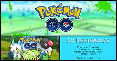 Pokemon Go! 5 Regional's of your choice!