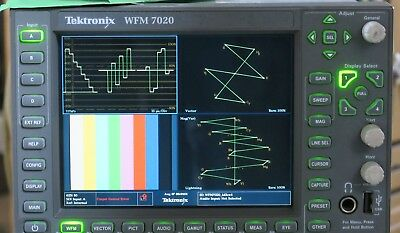 Tektronix wfm7020 lcd waveform vectorscope with composite and SDI input