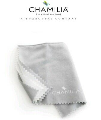 """Genuine Chamilia Silver Jewellery Polishing Cleaning Clean Cloth Large 12"""" x 15"""""""