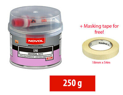 NOVOL UNI Car Body Filler Universal Putty with Hardener and Masking tape