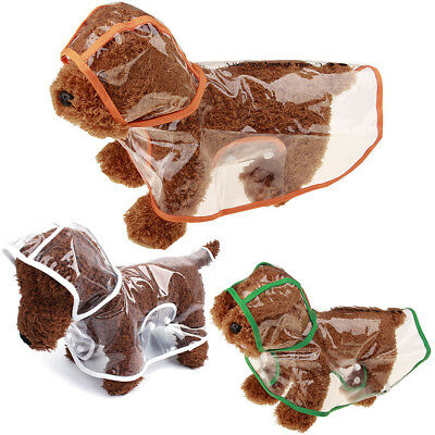 PVC Transparent Pet Coat Jacket Dog Puppy RainCoat Small Large Waterproof Hoodie