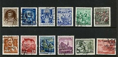 DDR EAST GERMANY Various used Stamps 1955 (1) Agricola, Shiller, Max Engels etc