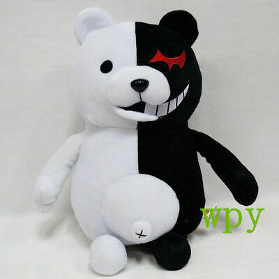 35cm New Dangan Ronpa Mono Kuma Monokuma White& Black Bear soft Plush toy doll