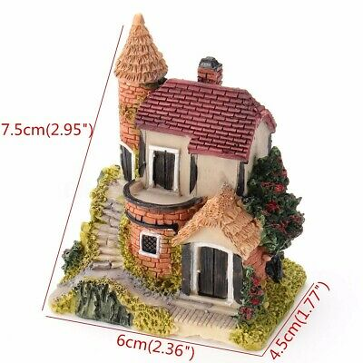 Mini Fairy Garden Miniature Resin Thatched House Micro Landscape Ornament