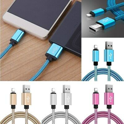 Rope For iPhone 5s 6 Plus Sync Cord Nylon Cable Data Braided 1M Charger USB