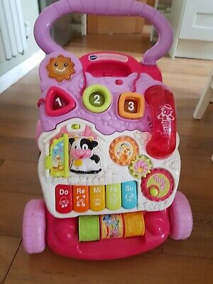 Vtech 2 In 1 Children's Musical Activity Centre Push Along Walker