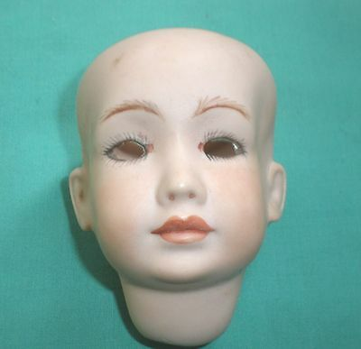 Bisque porcelain doll head, 2033, Bruno Schmidt Reproduction, 3.25""