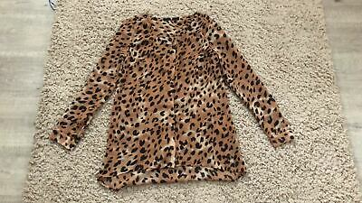 V by Very Ladies Leopard Print Blouse. UK Size 8.