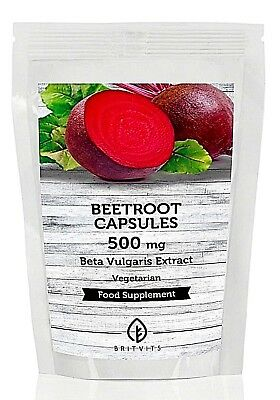 Beetroot 100mg 7-30-60-90-120-180-250-500-1000 Capsules UK