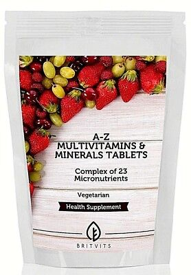 A-Z Multivitamins and Minerals 7-30-60-90-120-180-250-500-1000 Tablets UK