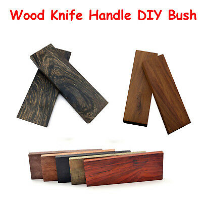 2PCS Knife Handle Material Mahogany Ebony Wood Scale Slabs Blade Bush DIY Making