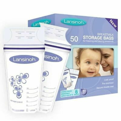 Lansinoh Breast Milk 50 Storage Bags For Freezing and Storing Breastmilk