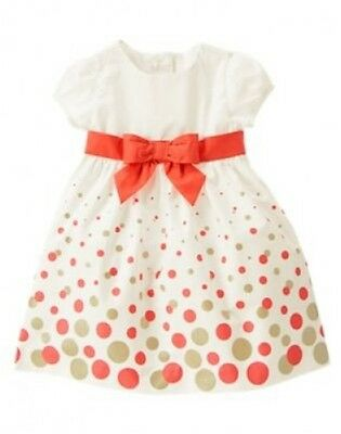 NWT Gymboree Beary New Coral Dot Dress Sizes 18-24 months