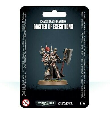 Chaos Space Marines Master Of Executions Games Workshop Warhammer 40,000 New