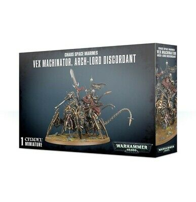 Chaos Space Marines Vex Machinator Arch-Lord Discordant Games Workshop Brand New