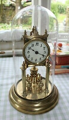 Vintage German 400 Day Anniversary Torsion Clock Glass Dome.