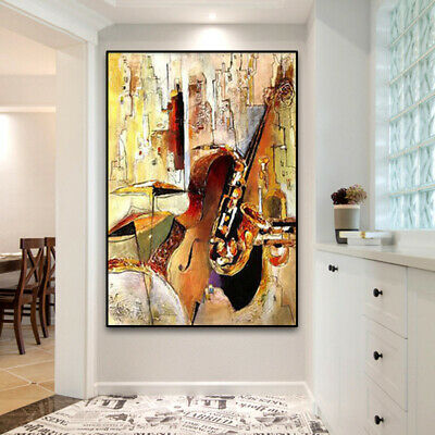 """YA716 Home decor CANVAS Abstract oil painting MUSIC HAND-PAINTED Unframed 24x36"""""""