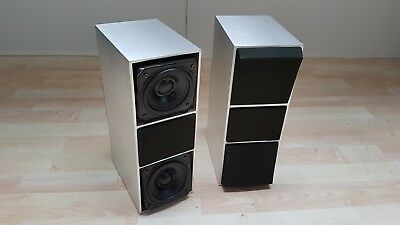 Refurbished B&O BANG AND OLUFSEN BEOVOX CX 100 3-way SPEAKERS SILVER