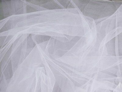 White Bridal Tulle, Veiling, Soft Tulle. 3 METRES WIDE