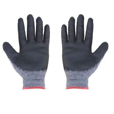 1Pair Latex Grip Palm Coated Rubber Work Gloves Builders Construction IT