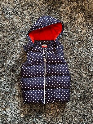 Worn Once- Marks & Spencers Polka Dot Gilet - 4 - 5 Years