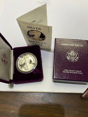 1988 S American Silver Eagle Proof Bullion Coin - 1 troy oz .999 Fine Silver