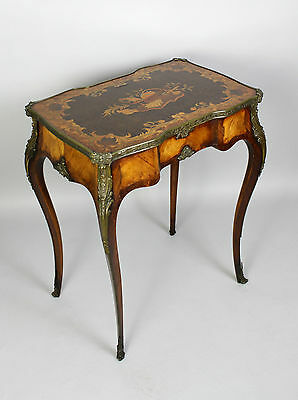 A French Kingwood & Floral Marquetry Ladies Vanity Table