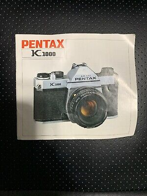 Vintage Pentax K 1000 Owners Manual Only - Free Shipping
