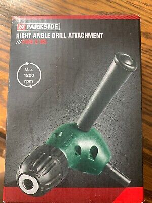 Parkside Right Angle Drill Attachment Chuck Key Adapter Diy Tool Accessory
