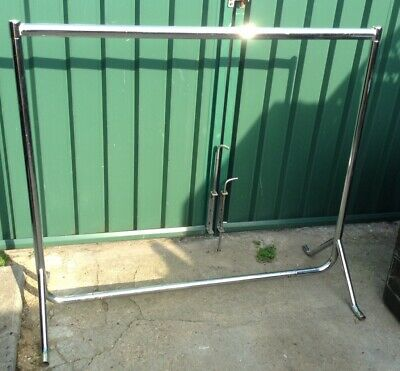 Short Clothes Hanging Rail, Shows, Market Stalls, Storage. Chrome, Collapsable