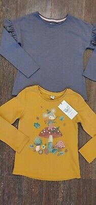 BNWT / BNWOT TU Mustard Mouse & Grey Frill Long Sleeve Top  Age 5-6 Years