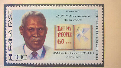 Briefmarken Burkina Faso 1988 Martin Luther King Nobelpreis Frieden 1964 Postfrisch