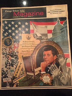 Chicago Tribune Sunday Magazine ~ November 22, 1964 ~ JFK Memorial  **RARE**