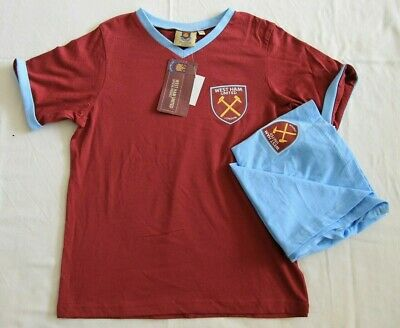 West Ham Utd Official 2 piece Pyjama short set Boys/Girls Aged 9-10 years BNWT