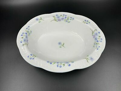 Shelley Blue Rock Oval Vegetable Serving Bowl Bone China England