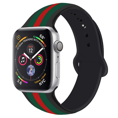 b0f63497437 Apple Watch Band Gucci Black Iwatch Silicone 42mm 44mm Series 2 3 4  Accessories