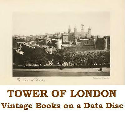 Tower of London 'Bloody Tower' Crown Jewels 24 Vintage & Rare Books on Data Disc