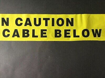 Caution Electric Cable Below Underground Cable Warning Tape - Per Meter