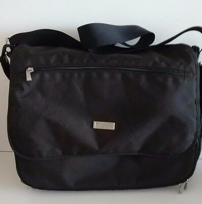 The Bag Collection Large Baby Changing Bag Black Multi Pockets & Changing Mat
