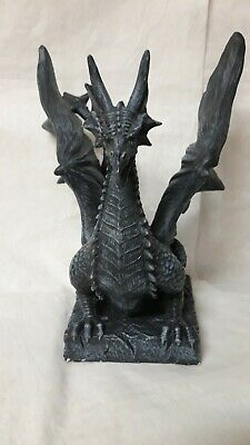Vintage DWK 2007 Dragon Candle Holder Blue 10 X 9