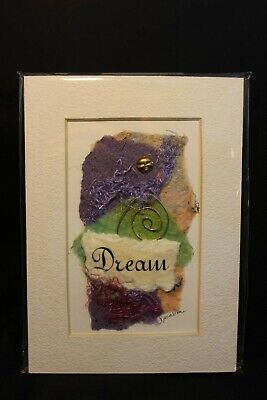 """Mixed Media Collage From Simplesong Studio - """"DREAM"""" 5"""" x 7"""" Matted"""