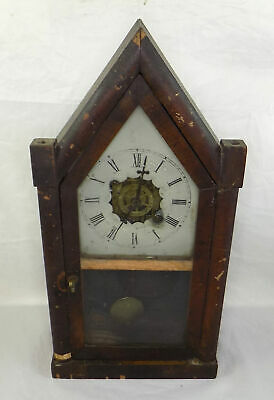 Antique Jerome & Co. Steeple Clock With Alarm - Working - Spares Or Repair