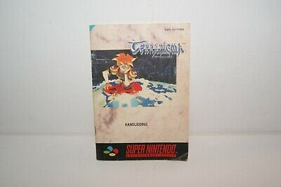 Nintendo Snes Terranigma Manual Instruction Booklet Original VERY RARE