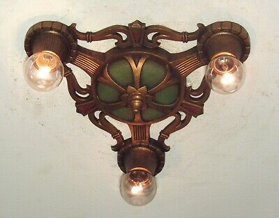 RESTORED! Antique MARKEL Three Light Fixture - I have 5 Available - Pair or Set