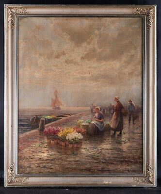 Early 20th Century Dutch/European Oil Painting On Canvas