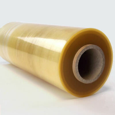 18'' Clear PVC Meat And Food Wrap 450mm x 1500m Per Roll - Catering Cling Film